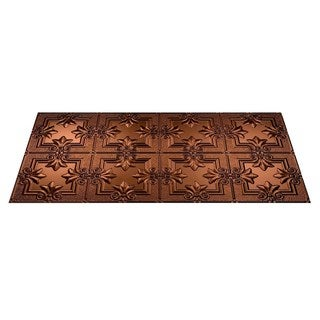 Fasade Regalia Oil Rubbed Bronze 2-foot x 4-foot Glue-up Ceiling Tile