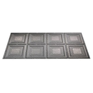 Fasade Portrait Galvanized Steel 2-foot x 4-foot Glue-up Ceiling Tile