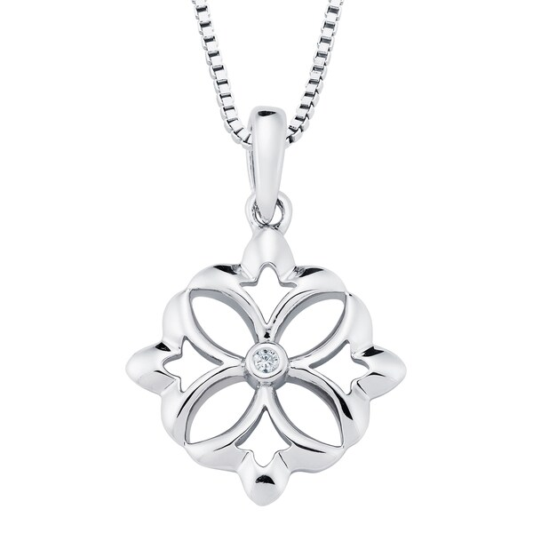 Boston Bay Diamonds Sterling Silver Diamond Accent Silver Fashion Pendant