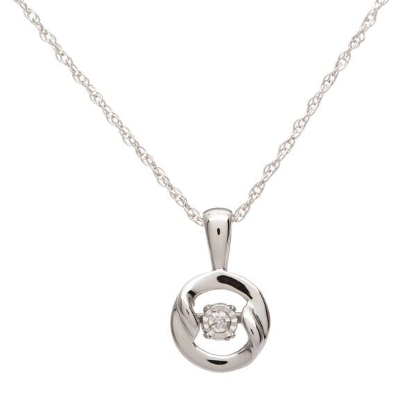 Boston Bay Diamonds Sterling Silver Brilliance in Motion Diamond Accent Circle Pendant