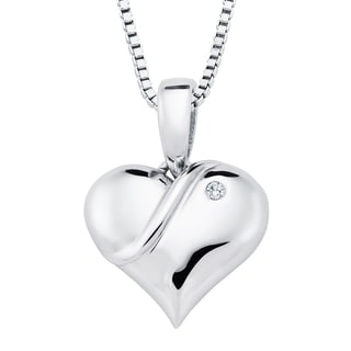 Boston Bay Diamonds Sterling Silver Diamond Accent Heart Fashion Pendant