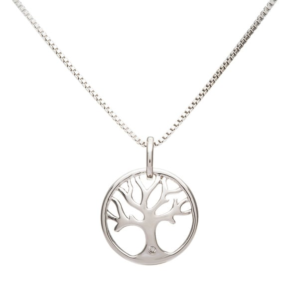 Boston Bay Diamonds Sterling Silver Diamond Accent Tree of Life Fashion Pendant