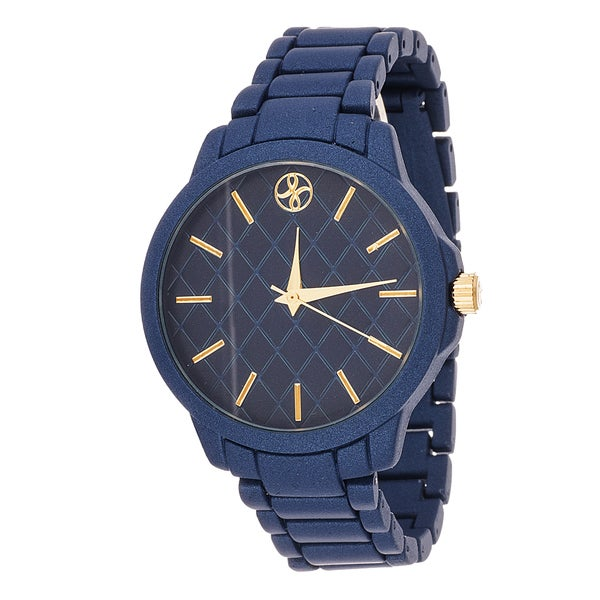 Fortune NYC Boyfriend Blue Case / Blue Metallic Strap Watch