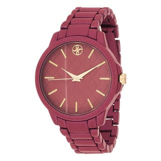 Fortune NYC Boyfriend Red Case / Red Metallic Strap Watch