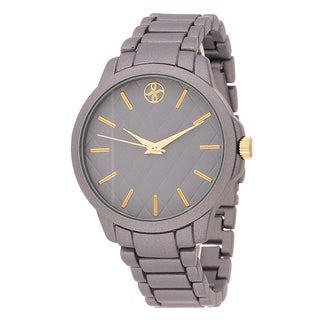 Fortune NYC Boyfriend Grey Case / Grey Metallic Strap Watch