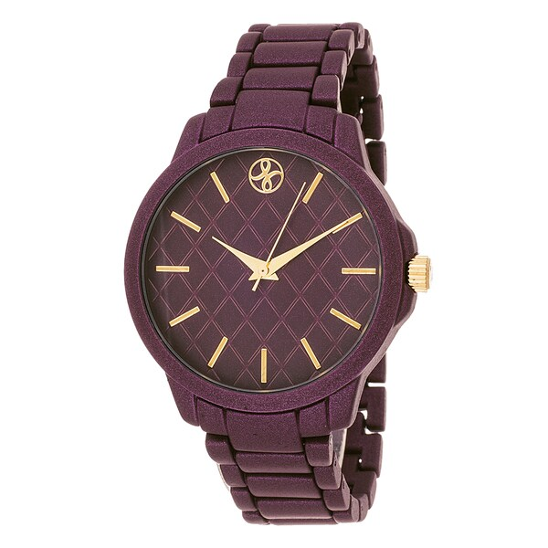 Fortune NYC Boyfriend Purple Case / Purple Metallic Strap Watch