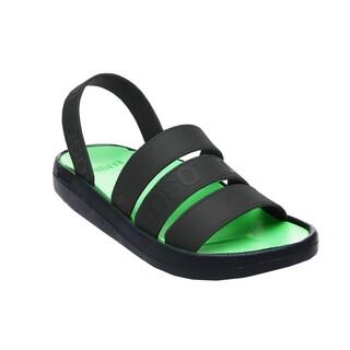 TOEOT Men's TA Sandal, Customizable Sandals, Lime Black