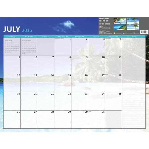 22 Inch Tropical Beaches July 2015 June 2016 Desk