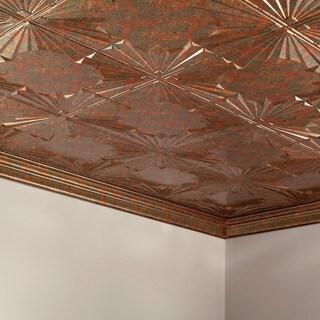 Fasade Art Deco Copper Fantasy 2 ft. x 4 ft. Glue-up Ceiling Tile