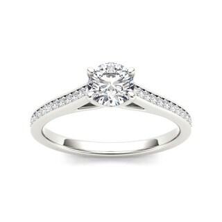 De Couer 14k White Gold 1/2ct TDW Diamond Classic Engagement Ring (H-I, I2)