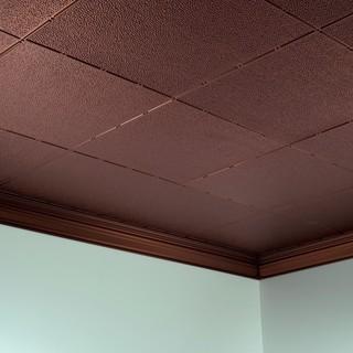 Fasade Hammered Oil Rubbed Bronze 2 ft. x 4 ft. Glue-up Ceiling Tile