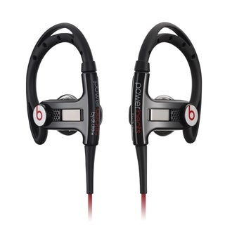 Beats by Dre Powerbeats Black/ Red Clip-on Earbud Headphones with Control Talk (Refurbished)