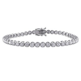 Miadora 14k White Gold 3ct TDW Diamond Bracelet (G-H, I2-I3)