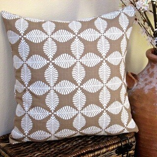 Artisan Pillows Indoor 20-inch Modern Geometric Floral in Brown Southwestern Accent Throw Pillow