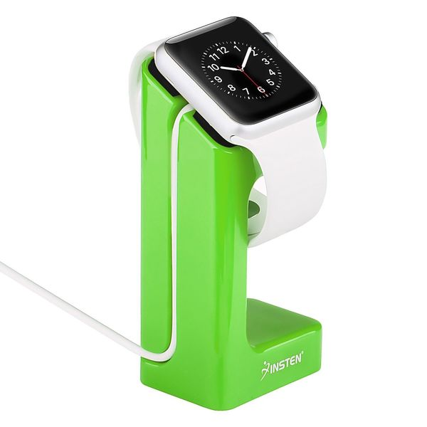Insten Charger Stand Holder Charging Docking Station For Apple Watch iWatch 38/42mm, Green