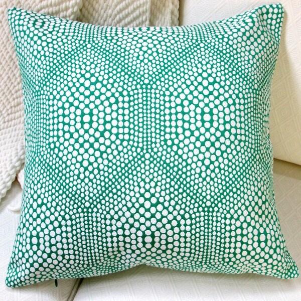 Artisan Pillows 20-inch High End Green Bubbly Modern Geometric Accent Throw Pillow 15868137
