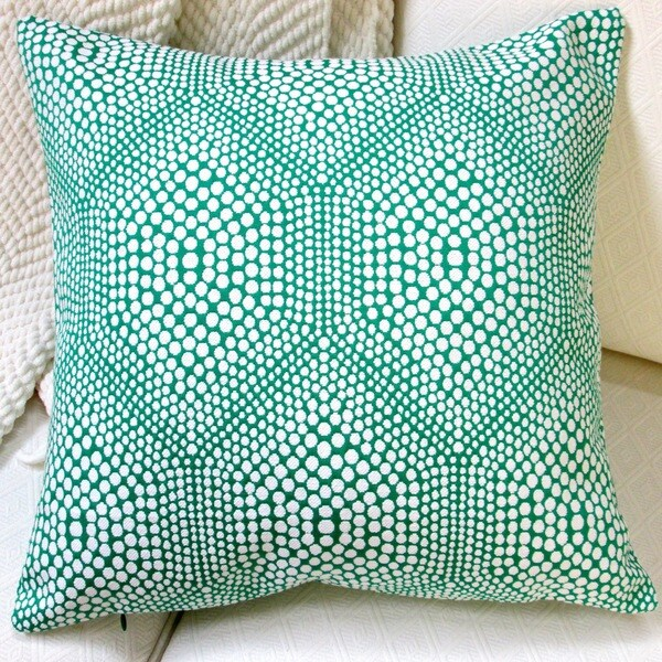 Artisan Pillows 20-inch High End Green Bubbly Modern Geometric Accent Throw Pillow Cover 15868142