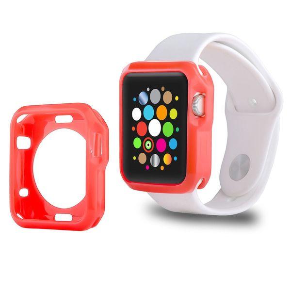 Insten Slim Soft Silicone Skin Gel Rubber Smart Watch Case Cover For Apple Watch 42mm