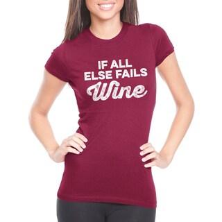 Women's If All Else Fails Wine Cotton T-shirt
