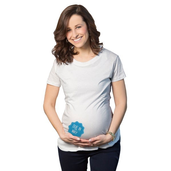 Women's Maternity Due In... May Boy Cotton T-shirt