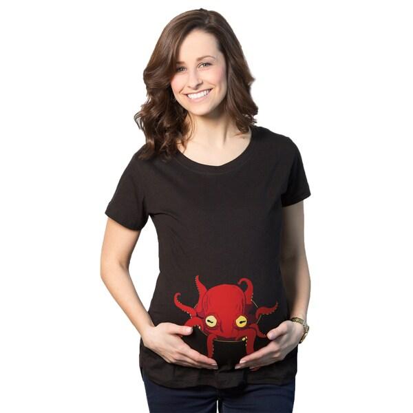 Women's Maternity Octopus Cotton T-shirt