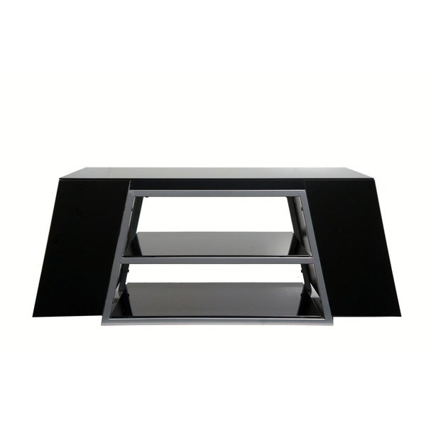 Endeavour Black Wood & Glass TV Stand- fits TVs up to 47 inches