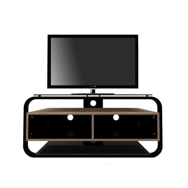 Discovery Walnut finish with Steel & Glass TV Stand- Fits TVs up to 47 inches
