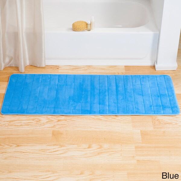 Windsor Home Memory Foam Striped Extra Long Bath Mat 24x60 17481758 O