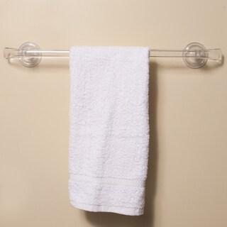 Push and Lock Long Lasting Clear Acrylic Suction Bath Towel Bar