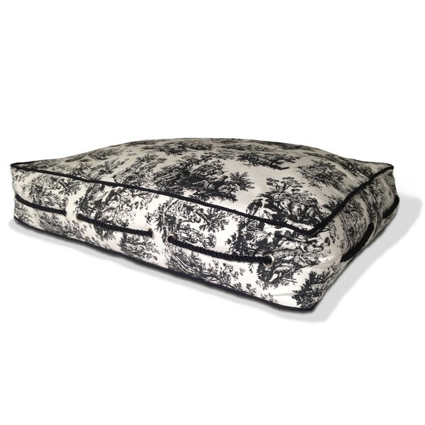Toile Square Cushion Bed