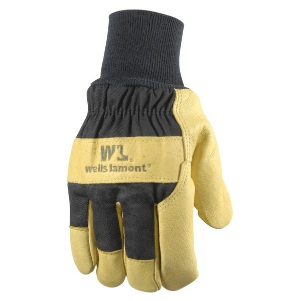 Insulated Grain Pigskin Lined Leather Palm Gloves Mens
