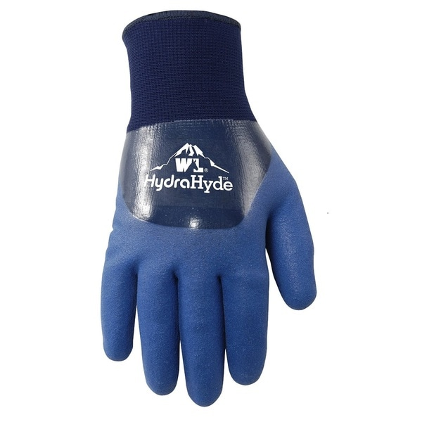 Wells Lamont HydraHyde Dbl Coated Nitrile Mens Gloves Blue