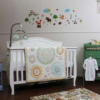 Nurture Imagination Cocoa Heavenly Spheres and Cosmic Dots 3-piece Bedding Set