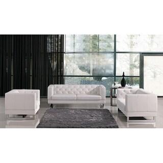 Divani Casa Windsor White Italian Design Sofa Set