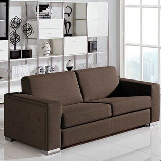 furniture of america deep cushion 2 piece dark espresso sofa sofabed