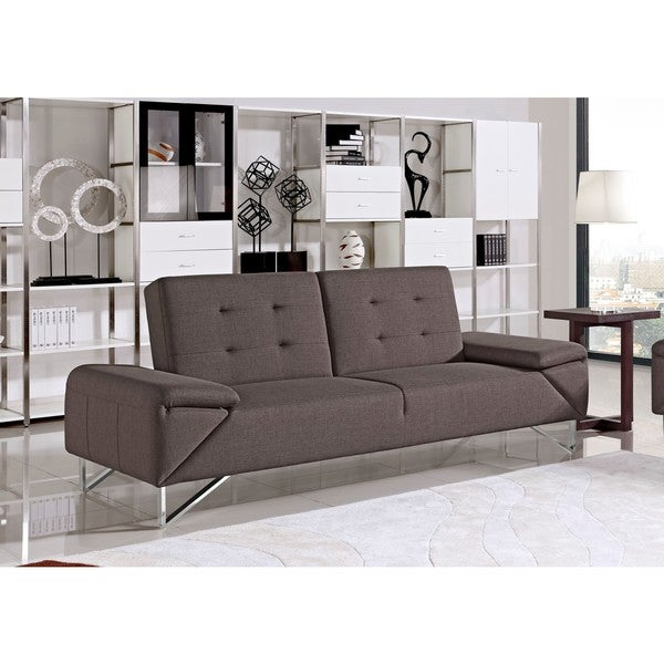 Briza Modern Brown Fabric Sofa Bed