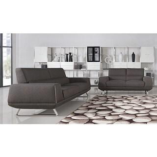 Divani Casa Rumex Modern Grey Fabric Sofa Set