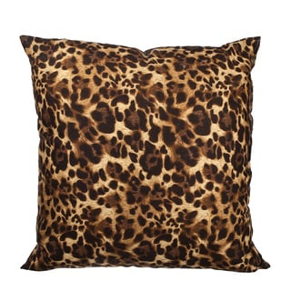Canvas Leopard Print Down Alternative Filled 18-inch Throw Pillow