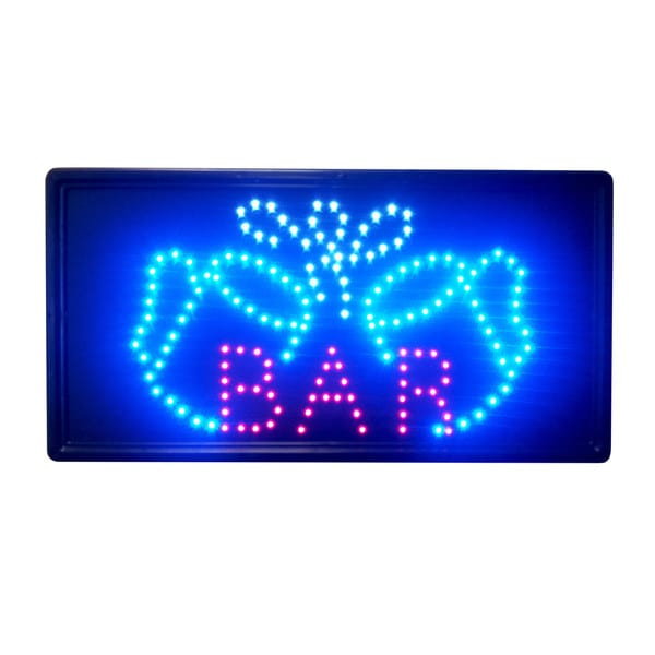 Constructor Bar Sign Animated LED Neon Light, 2 On/Off Switches + Chain
