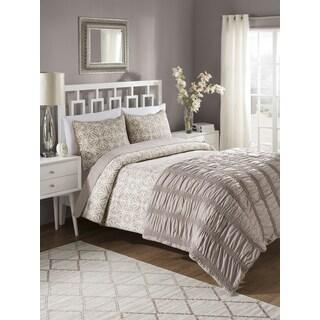Bettina 4-piece Comforter Set with Quilt