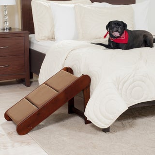 PAW Mahogany Padded Pet Ramp with Folding Legs