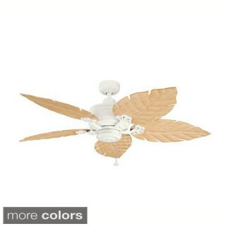 Kichler Lighting Satin Natural White 52-inch Ceiling Fan with Choice of Blade Color and Style Indoor - Outdoor