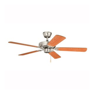 Kichler Lighting Sterling Manor ES Brushed Nickel 52-inch Ceiling Fan with Reversible Cherry/ Walnut Blades