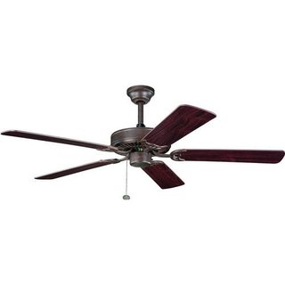 Kichler Lighting Sterling Manor ES Tannery Bronze 52-inch Ceiling Fan with Reversible Cherry/ Teak Blades