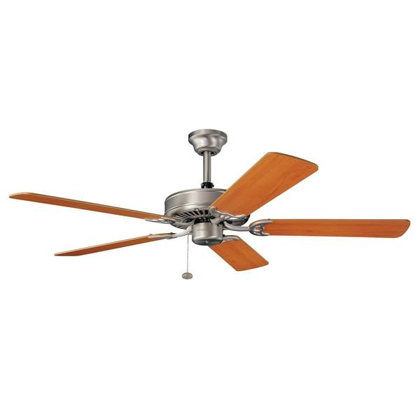 Kichler Lighting Sterling Manor ES Brushed Nickel 52-inch Ceiling Fan with Reversible Cherry/ Maple Blades