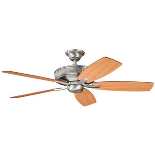 Kichler Lighting Monarch 52-inch Antique Pewter Finish Ceiling Fan with Reversible Light Cherry/ Dark Cherry Blades