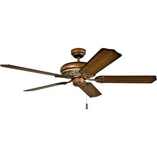 Ellington Manor 52-inch Blackened Charred Walnut Finish Ceiling Fan with Two-tone Walnut Blades