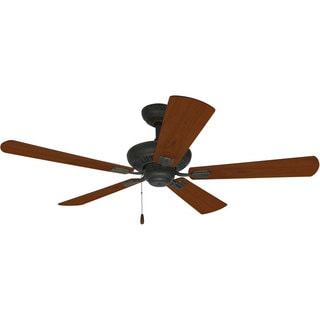 Ellington Uptown 52-inch Antique Verde with Gold Finish Ceiling Fan with Reversible Cherry/ Walnut Blade