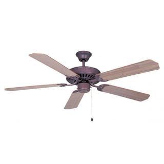 Ellington 52-inch Walnut 5-blade Copperstone Finish Ceiling Fan