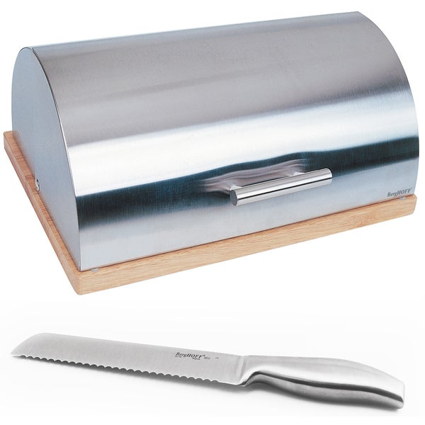 BergHOFF Bread Box and Knife 2-piece Set
